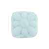 Venetian Glass Bead Square Starburst 18mm Opaque Celeste Aqua