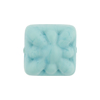 Venetian Glass Bead Square Starburst 18mm Opaque Turquoise