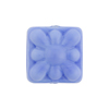 Venetian Glass Bead Square Starburst 18mm Opaque Blue