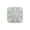 Venetian Glass Bead Square Starburst 18mm Opaque Pearl Gray
