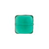 Venetian Glass Bead Square Sleek 13mm Transparent Sea Green