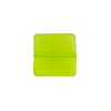 Venetian Glass Bead Square Sleek 13mm Transparent Peridot