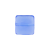 Venetian Glass Bead Square Sleek 13mm Transparent Blue
