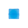 Venetian Glass Bead Square Sleek 13mm Transparent Aqua
