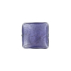 Square Sleek 13mm, Plum White Gold Foil, Murano Glass Bead