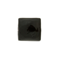 Venetian Glass Bead Square Sleek 16mm Black