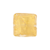 Clear 24kt Gold Foil Curved Square Venetian Glass Bead