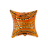 Orange/Gold Foil Filigrana Stripes Pillow Black Base 20mm