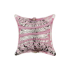 Pink/Silver Foil Filigrana Stripes Pillow Black Base 20mm