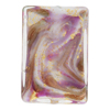 Viola, Purple Aventurina Marbled Rectangle 30x22, Murano Glass Bead