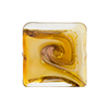 Topaz with Aventurina and 24kt Gold Foil Mare Vela Square 20mm Murano Glass Bead
