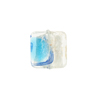 Murano Glass Bead Miro Wavy Square 14mm Aqua Gold & Silver