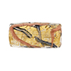 Murano Glass Bead Monet Rectangle 25x12 Gold Foil Blue