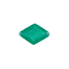 Murano Glass Rhombus Bead 15mm White Gold Foil, Sea Green