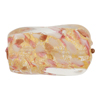 Murano Glass Bead Rubino Gold Foil Twisted Rectangle 30mm