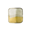 Venetian Bead Square 4 Colors Gold and Silver ,Steel 16mm