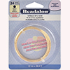 Beadalon German Style Wire, Round, Gold, 24 Gauge, 12 Meters