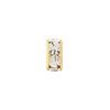 Gold Plated Squaredelle Crystal 10mm