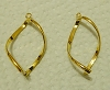 Gold Plated Base Metal Earring Frame - Pair
