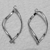 Silver Plated Base Metal Earring Frame - Pair