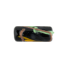 Opaque Black Avventurina Tube 20mm Murano Glass Bead