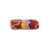 Venetian Glass Bead Fiorato Rose Tube 20mm, Ruby Red