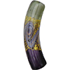 Purple, Gray, Aventurina and 24kt Gold Foil Mare Curved Tube 40x8 Murano Glass Bead