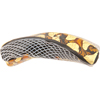 Topaz and Black w/Zanfirico Venetian Bead Twisted Curved 60mm