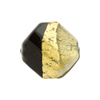 Bicolor Twisted Faceted Murano Glass Black and Gray 21mm Gold Foil
