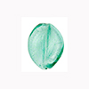 Verde Marino Baby Leaves White Gold Foil 12mm Murano Glass Bead