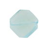 Murano Glass Bead Twisted Faceted Aquamarine 21mm