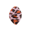 Topaz and Pink Leopard Sparkle Venetian Glass Bead Twist 20mm
