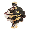Chocolate Gold Foil  White Fancy Twist Beads 30mm Murano Glass Bead
