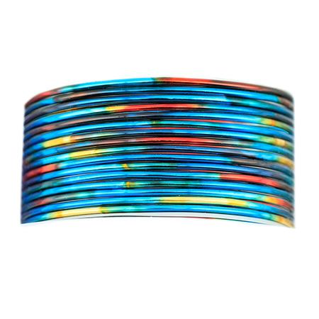 7.6 m 25 ft 20 Gauge Craft Wire Silver Blue Color Beadalon Artistic