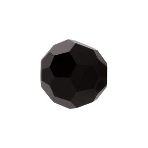 Swarovski 5000 6mm Faceted Round, Jet