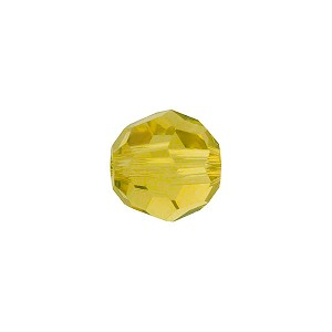 Swarovski 5000 6mm Faceted Round, Lime