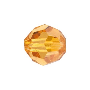 Swarovski 5000 6mm Faceted Round, Topaz