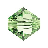 Swarovski 5328 8mm Xilion Faceted Bicone, Peridot