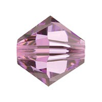 Swarovski 5328 8mm Xilion Faceted Bicone, Light Amethyst