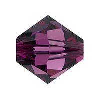 Swarovski 5328 8mm Xilion Faceted Bicone, Amethyst
