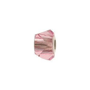 Swarovski 5920 BeCharmed Helix, Light Rose, 4.5mm Hole
