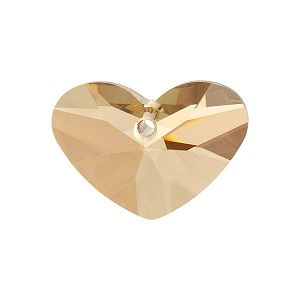 Swarovski 6260 Crazy 4 U Heart, 27mm, Crystal Golden Shadow