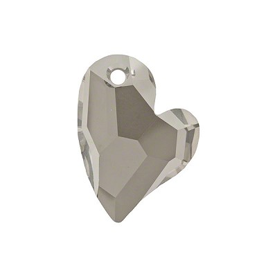 Swarovski 6261 Devoted 2 U Heart Pendant, 27mm, Crystal Satin