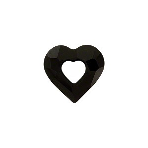 Swarovski 6262 Miss U Heart, 17mm, Jet