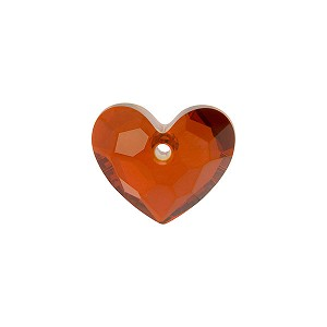 Swarovski 6264 Truly in Love Heart, 18mm, Crystal Red Magma