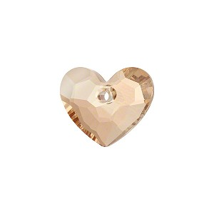 Swarovski 6264 Truly in Love Heart, 18mm, Crystal Golden Shadow