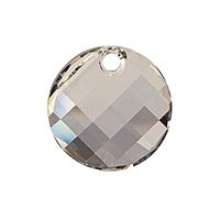Swarovski 6621 Twist Pendant, 18mm, Crystal Silver Shade