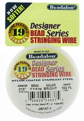 Beadalon 19 Strand .015 Bright 100'