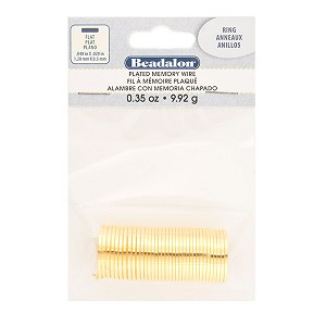 Beadalon Memory Wire Flat, Rings, Gold Color, .5 oz