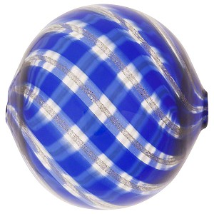 Cobalt, Aventurina Murano Blown Glass Bead Ball 40mm